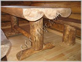 Фотография деревянной мебели для бани
