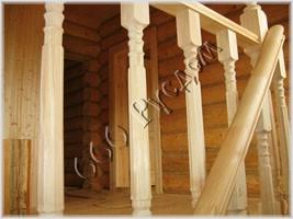 Бюджетный вариант деревянной лестницы