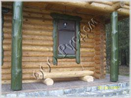Фотография элементов внешней отделки деревянного дома