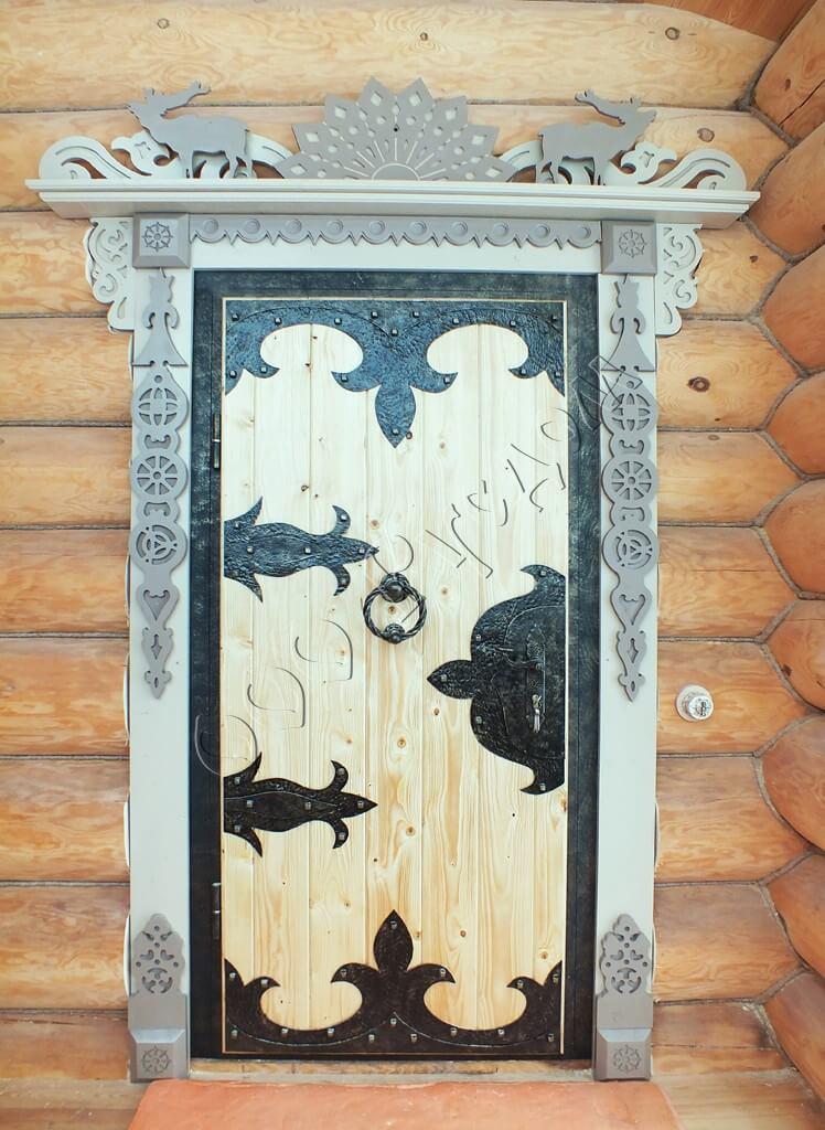 Как сделать красивые наличники на дверь