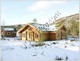Рубленый дом из лафета в норвежских традициях