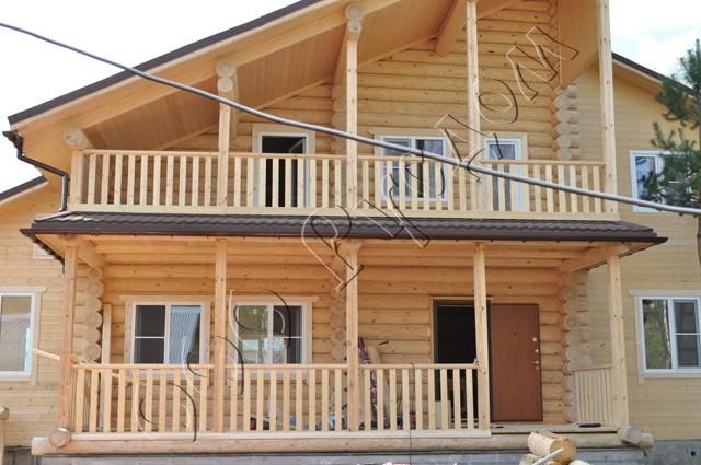 Варианты деревянных балконов. - балконы - каталог статей - у.