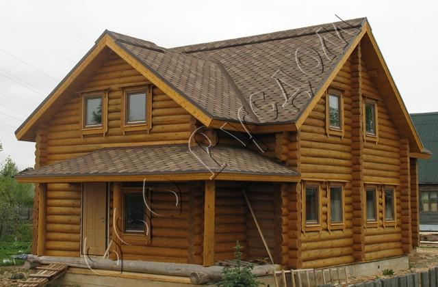 Рубленый дом из сруба после отделки