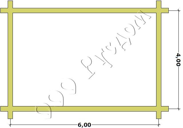 План сруба из лафета 4 на 6