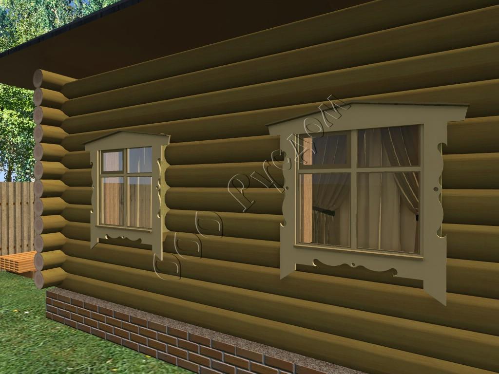 Простые деревянные наличники на окна своими руками 958