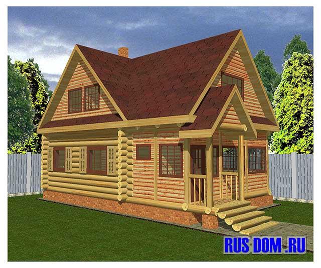 Проект рубленого дачного дома