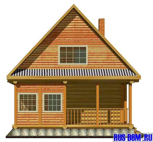 Лицевой фасад дачного дома дачник 4