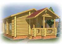 Одноэтажный дом Теремок