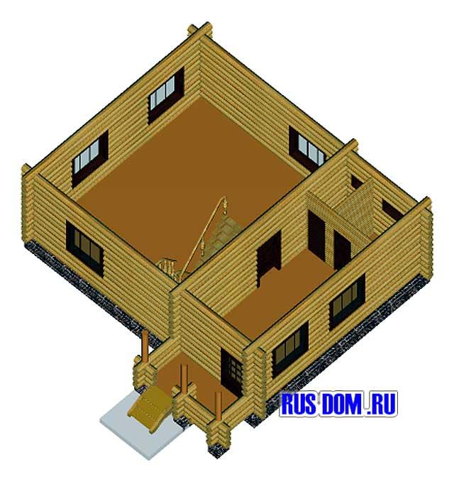 Дизайн дома-пятистенок