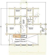 План второго этажа современного деревянного дома Олли