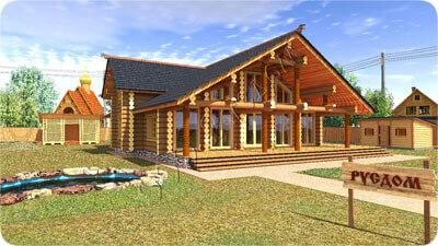 Проект деревянного дома для отдыха, с возможностью использовать как гостевой дом. Проект Артем