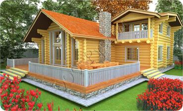 Индивидуальный жилой дом для постоянного проживания «Север» в европейском стиле