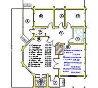 План первого этажа усадебного дома «Иван»