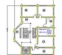 План второго этажа усадебного дома «Иван»