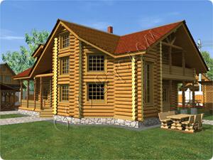 Усадебный дом для постоянного проживания с эркером и вторым светом «Иван»