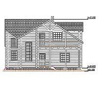 Боковой фасад усадебного дома «Иван»