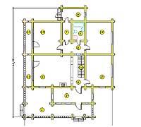 План первого этажа усадебного дома «Павел-2»