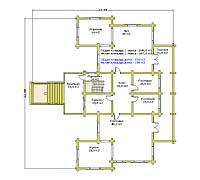 План первого этажа усадебного дома «Форт-1»
