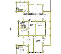 План второго этажа усадебного дома «Форт-1»