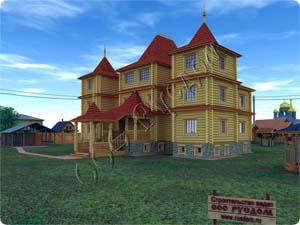 Проект трехэтажного усадебного дома Форт-1