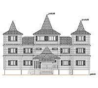 Центральный фасад усадебного дома «Форт-1»