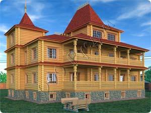 Возможный вид дома «Форт-1» со стороны веранды