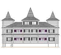 Тыльный фасад усадебного дома «Форт-1»