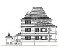 Боковой фасад усадебного дома «Форт-1»