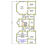 План второго этажа загородного дома «Форт-2»