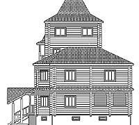 Боковой фасад усадебного дома «Форт-2»