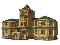 Проект усадебного дома с каминным залом «Форт-2»