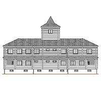 Тыльный фасад усадебного дома «Форт-2»