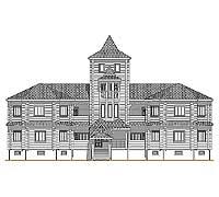 Центральный фасад усадебного дома «Форт-2»