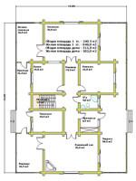 План первого этажа усадебного дома «Канадский»