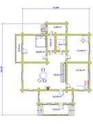 План первого этажа усадебного дома «Павел»