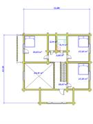 План второго этажа двухэтажного дома «Павел» в канадском стиле