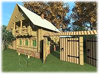Проект деревянного дома Сельский дом 1880 г