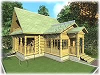 Старинный проект дома №101 с мансардным этажем для сезонного проживания. Архитектор Судейкин
