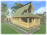 Проект дореволюционной рубленой дачи для сезонного проживания №2