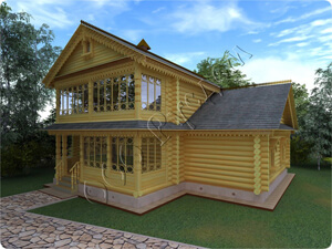 Проект дореволюционного двухэтажного дома №52. Архитектор Судейкин