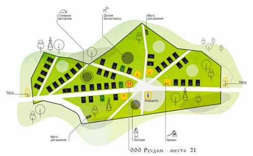 Карта выставки Летние дачи в Сокольниках