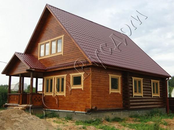 Дом получился не совсем стандартный - на основе Дачника-1