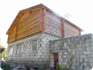 Комбинированный дом - вид сзади