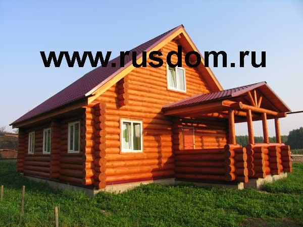 Полутораэтажный дом из сруба Устиновых