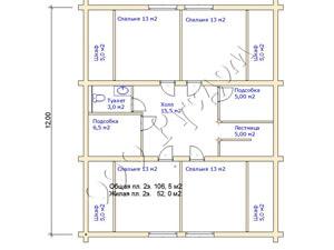 План второго этажа дома после отделки