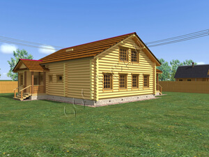 Возможный внешний вид дома после отделки
