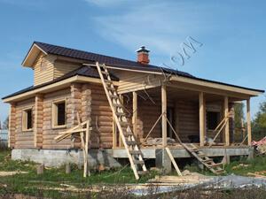 Возможный вид деревянного дома по проекту Судекина 47