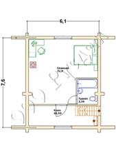 План второго этажа дома бани Дергаево
