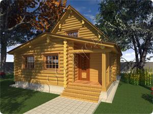 Гостевой дом баня Дергаево. Проект от компании Русдом