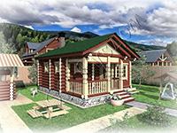 Проект деревянной русской бани ручной рубки Мечта-3